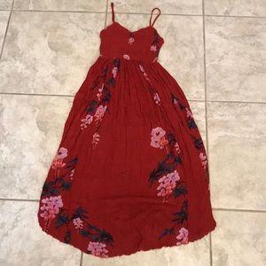 Free people red maxi dress size M like new